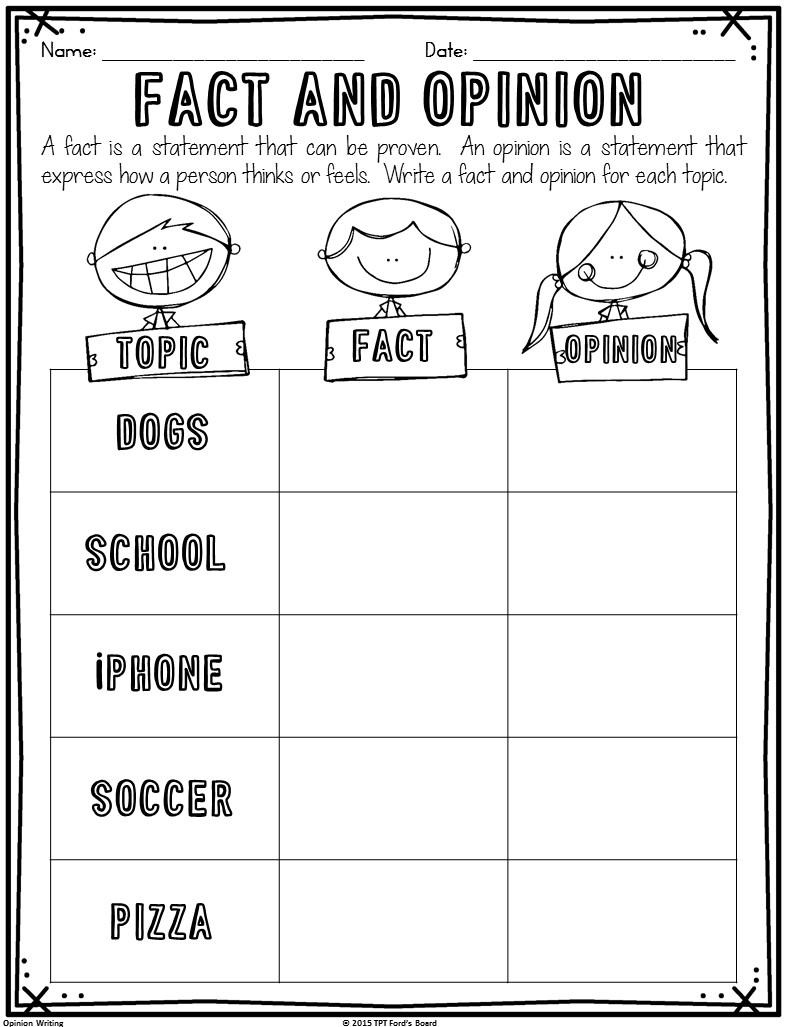 opinion writing sentence starters