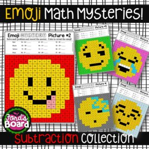 Emoji Mystery Pictures Subtraction
