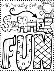 FREE Summer Quotes Coloring Page!