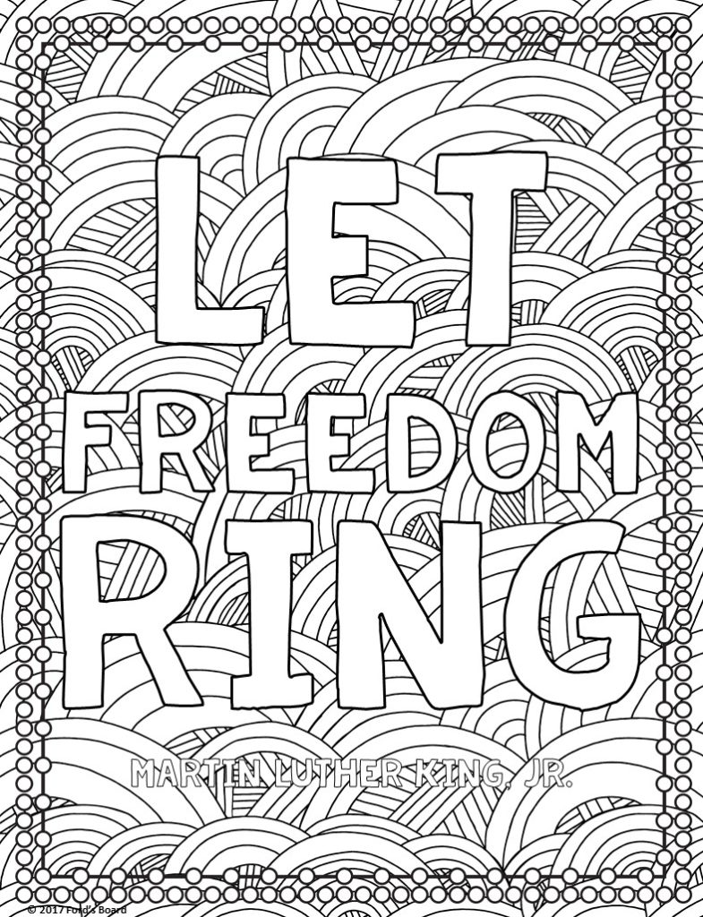 Martin Luther King, Jr. (MLK) Coloring Page